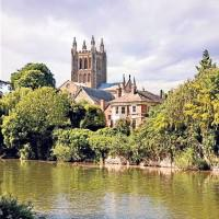 Hereford Cathedral Town Walk, Herefordshire, England