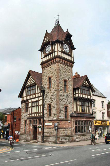 The Barret Browning Library - one of Ledbury's loveliest historical buildings