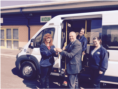 New minibus for Community Wheels