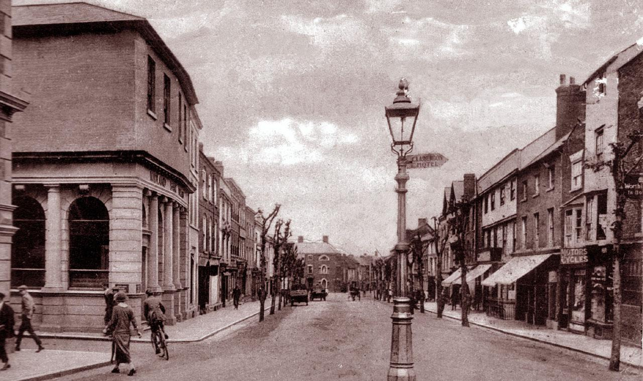 Historic Postcard of Broad Street in Leominster, Herefordshire, England