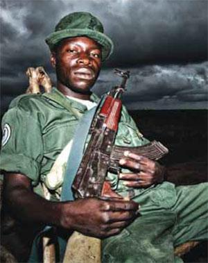 A member of an elite rapid response unit in Garamba National Park, the DRC. African countries are starting to beef up on-the-ground security in protected areas, but this means redirecting resources within budgets that are already stretched.