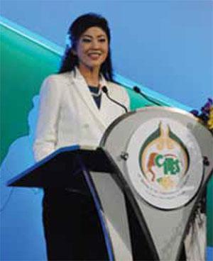 Thai Prime Minister Yingluck Shinawatra has pledged to end her country's involvement in the ivory trade.