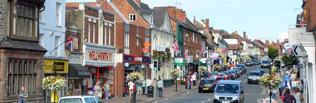 Ledbury High Street - Ledbury in Herefordshire, UK