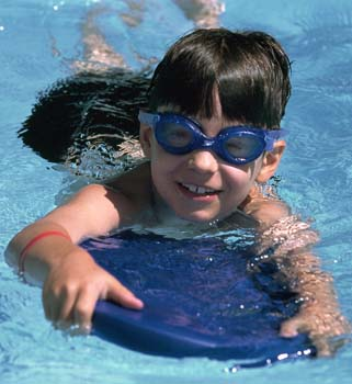 Swimming lessons at Hereford Leisure Pool